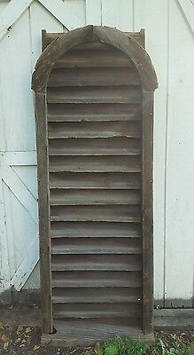 6FT 1800s Primitive Louvered Shutter Vents Amish Built Barn Wood Architectural