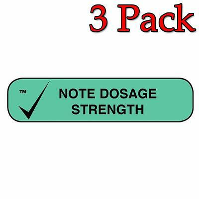 Apothecary Note Dosage Strength Bottle Labels, 1000ct, 3 Pack 025715401539A435