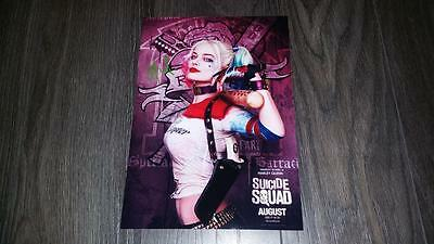 "Suicide Squad : Harley Quinn Pp Signed 12""x8"" A4 Photo Poster Margot Robbie"