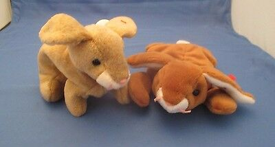 Ty Beanie Babies Ears And Nibbly Bunnies