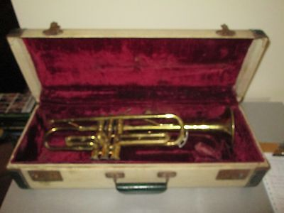 Vintage Trumpet Harry Pedler & Sons 50's With Original Case Few Dents 21""