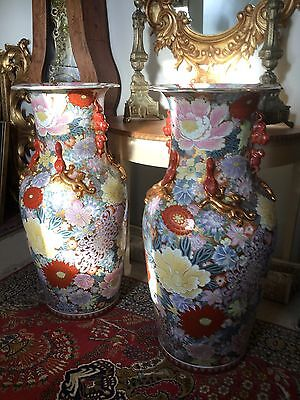 Pair Large Chinese Vases Early C20th