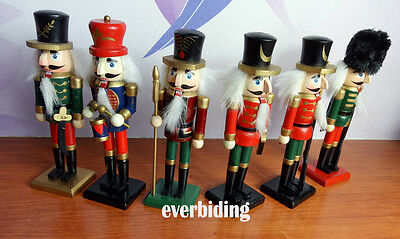 "7""/0.6ft Christmas Wooden Nutcracker Soldier Drummer Home Decor Gift CLEARANCE"