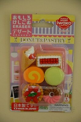 Iwako Japanese Erasers Dessert Donut and Pastry Theme Party Favors Food Cakes