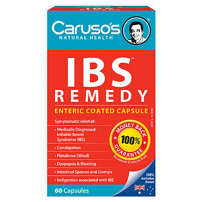 60 Capsules Caruso's Internal Health Natural Health Quick Cleanse IBS Remedy