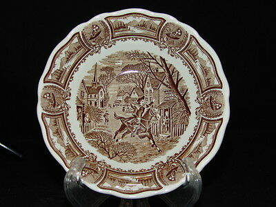 J & G Meakin Style House Americana (Brown) Coupe Cereal Bowl