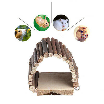Flexible Pet Mouse Hamster Rat Bird Ladder Bridge Suspended Log Wooden Deck Toy