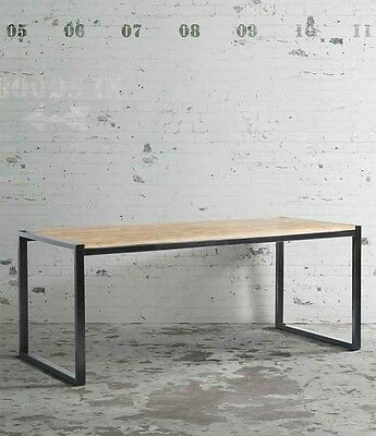 Chenier Dining Table Reclaimed Wood Industrial Style