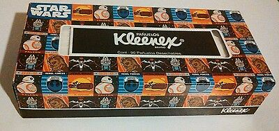 Kleenex Star Wars Everyday Facial Tissues, 90 Double Tissues Flat Box,