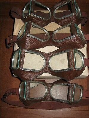 Lot 4 pieces Soviet Russian Army goggles.