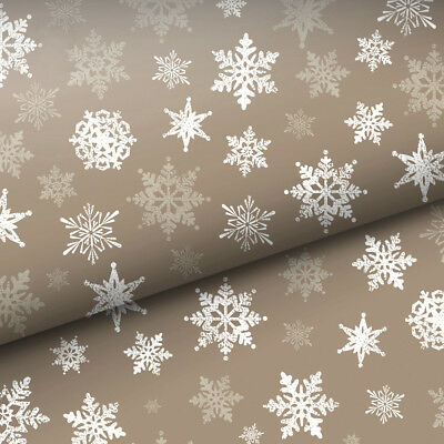 NEW Vandoros Woodland Snowflake Wrapping Paper
