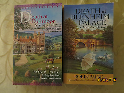 Lot 2 -ROBIN PAIGE:  DEATH AT DARTMOOR, DEATH AT BLENHEIM PALACE