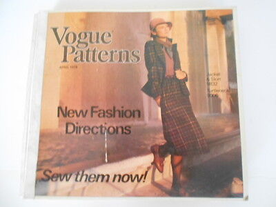 Vintage Vogue PATTERNS BOOK April 1978 catalogue countertop large fashion sewing