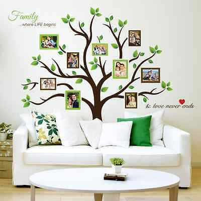 Timber Artbox Large Family Tree Photo Frames Wall Decal 2164