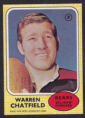 Scanlens 1970 Bears Warren Chatfield No.9