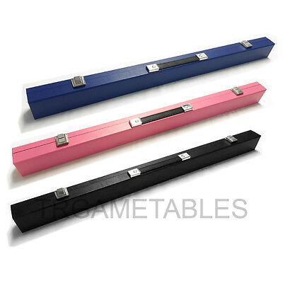 "Colourful Cue Case for Pool Snooker Billiard 2-Piece 57"" Cue - Red Blue Black AU"