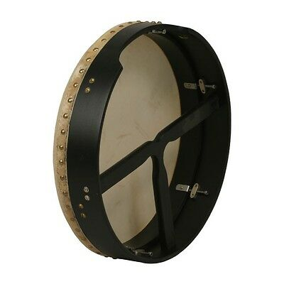 "New Black 16""  Inside Tunable Bodhran!  Celtic ~ Irish ~ Frame Drum with Tipper"