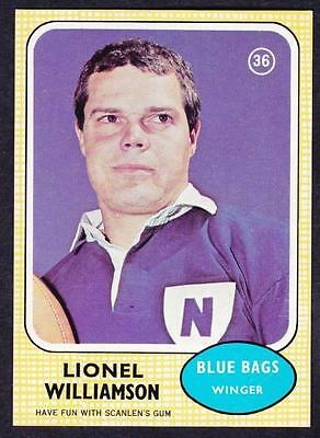 Scanlens 1970 Blue Bags Lionel Williamson No.36