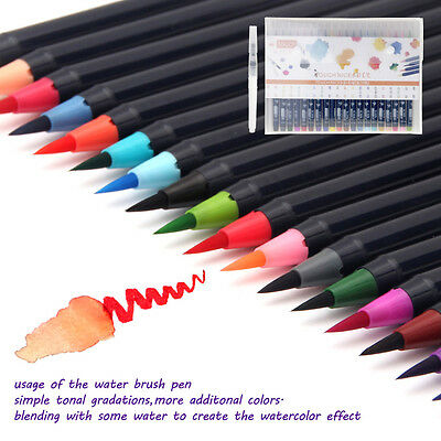 New Touch Nice Watercolor Drawing Painting Brush Artist Sketch Pen 20 Colors Set