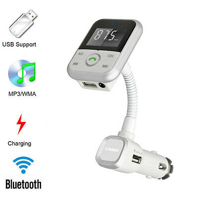 Bluetooth Wireless FM Transmitter Modulator Car Kit MP3 Player SD USB LCD Remote