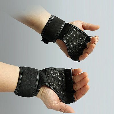 Professional Training Fitness Gloves Weight Lifting Gym Workout Wrist Wrap Strap