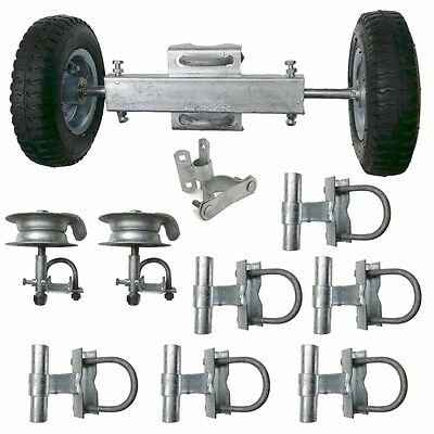 ALEKO Rolling Gate Hardware Kit Chain Link Rolling Gate Guides Rollers