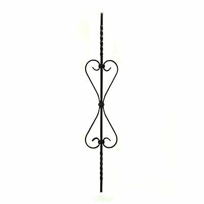 Aleko Black Finish Metal Baluster #024 37.5 In. X 6.75 In.