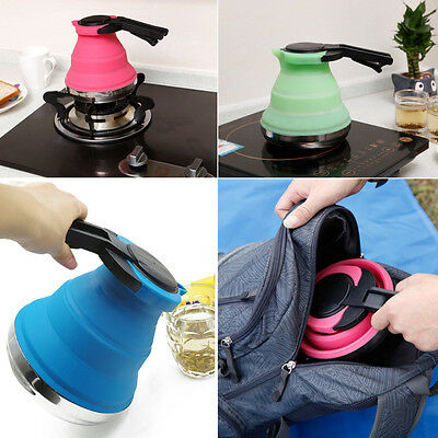 Folding Collapsible Kettle Silicone Picnic Electric Pot Heating Fishing Camping
