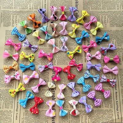 10PCS/lot Dogs mix bow Hairpins Dog Puppy Hair Clip Pet cat Accessories topknot