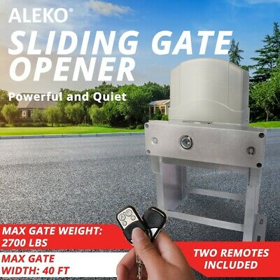 ALEKO Sliding Gate Opener Basic Kit For Gates Up To 60-ft 2700-lb