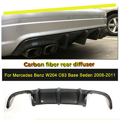 Carbon Fiber quad exhaust diffuser for Mercedes Benz W204 C63 AMG Bumper 08-11