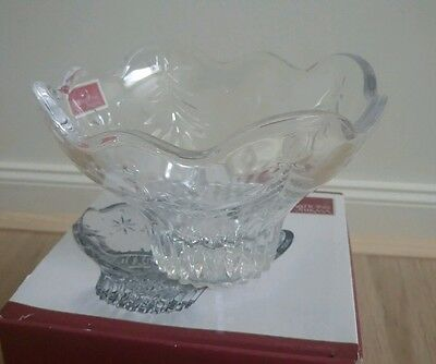 """Mikasa 'Christmas Night' 6 """" Glass Serving Bowl. New in Box. Fast delivery!"""