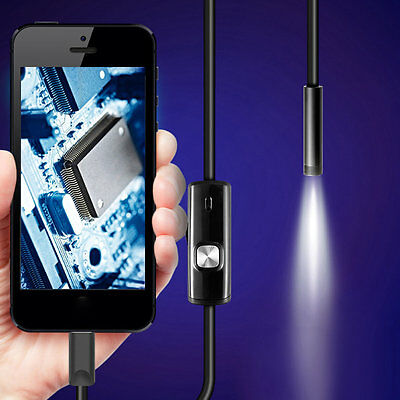 7mm Endoscope Camera for Android Phone Waterproof Phone Endoscope 1.5m HR