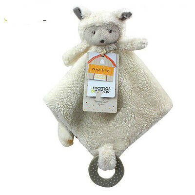 Cute Sheep Baby Comforter Blanket Rattle Teething Finger Toy Soft Smooth Stuffed