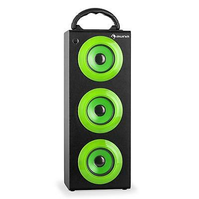 New Bluetooth System Wireless Portable Speaker Usb Sd Fm Carry Handle - Green