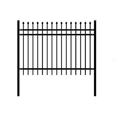ALEKO Rome Style DIY Disassembled Steel Yard Fence 6Ft x 4Ft Black