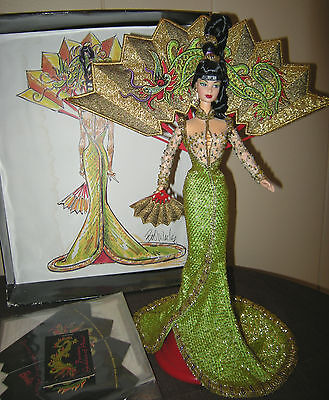 1998 Bob Mackie Fantasy Goddess of Asia Barbie, 1st in a Series, Mattel 20648