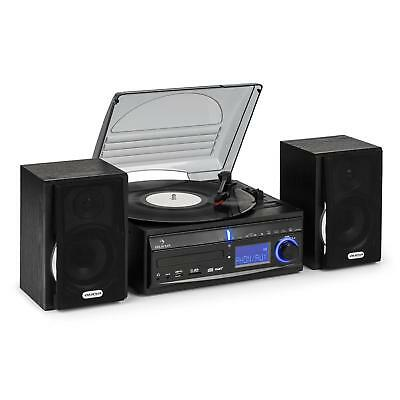 Turntable Record Cd Mp3 Player Radio Hifi Stereo System Usb Sd Recording Clock
