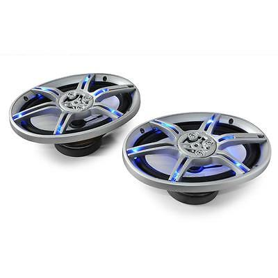 """HIFI CAR STEREO AUDIO SPEAKERS 6x9"""" 1000W 3-WAY COAXIAL DESIGN BLUE LED EFFECTS"""