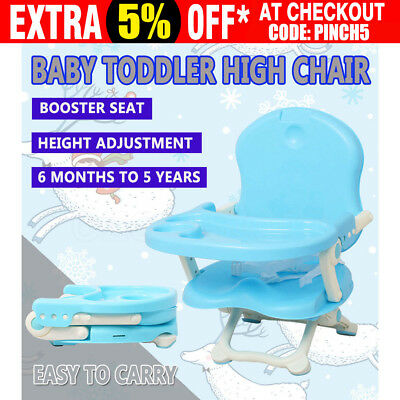 Baby Toddler Portable High Chair Highchair Booster Safe Seat Feeding Travel Fold