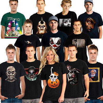 Digital Dudz Mens Womens T Shirt Animated Mobile Tech Funny Scary Halloween Top