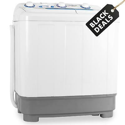 4.8kg PORTABLE COMPACT WASHING MACHINE HOME GARDEN CAMPING TRAVEL WASHER SMALL
