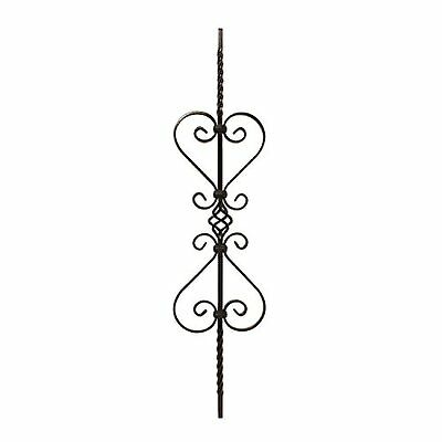 Aleko Black Finish Metal Baluster #045 37.5 In. X 8.75 In.
