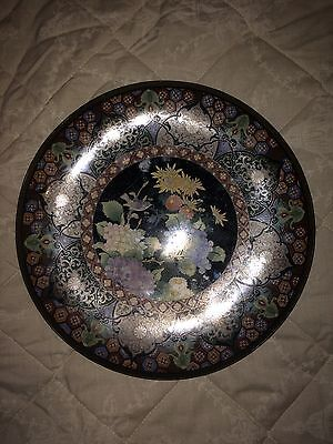Large Japanese Cloisonne Charger