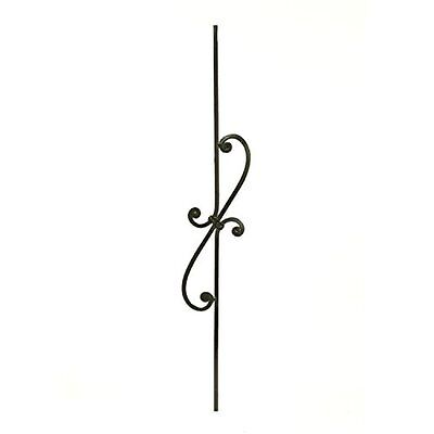 Aleko Black Finish Metal Baluster #042 37.5 In. X 5-5/8 In.