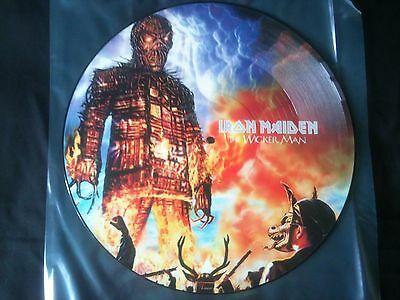 """Iron Maiden - The Wicker Man 12""""  Picture Disc Europe 2000 EX"""