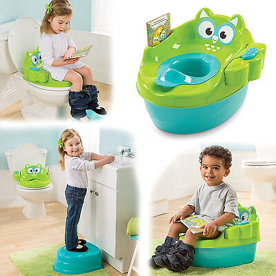 Potty Training Baby Seat 3 in 1 Chair Toddler Trainer Sit with Storybook Kids