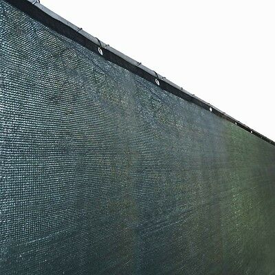 ALEKO 6'x150' Fence Privacy Screen Windscreen Mesh Fabric With Grommets Green
