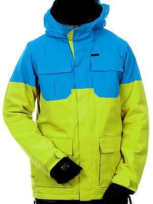 New Volcom Men Snowboard Ski Snow Jacket Size L Large Alternate 10K Yellow Blue