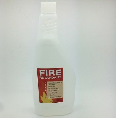 FIRE RETARDANT SPRAY British Standard 750ml 5 LITRE Curtains Upholstery Cushions